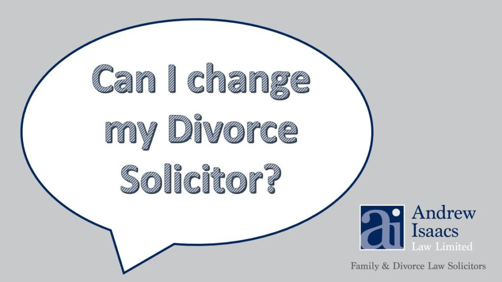can I change my divorce solicitor